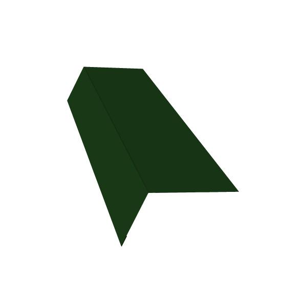 Планка карнизная широкая 100х85 0,45 PE с пленкой RAL 6005 зеленый мох