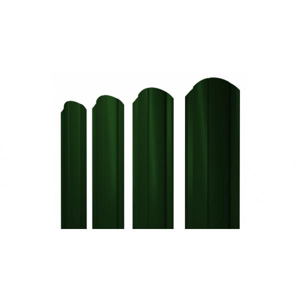 Штакетник Круглый фигурный 0,45 PE-Double RAL 6005 зеленый мох (1,5м)