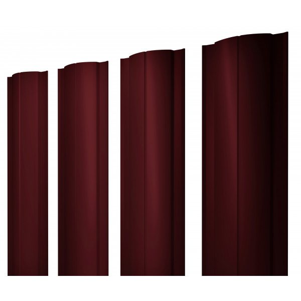 Штакетник Круглый 0,45 PE RAL 3005 красное вино