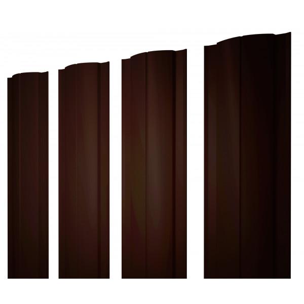 Штакетник Круглый 0,45 PE RR 32 темно-коричневый