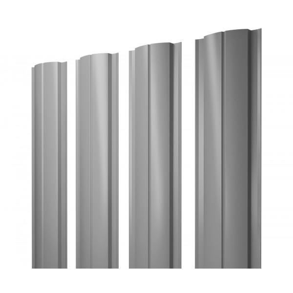 Штакетник Полукруглый Slim 0,45 PE RAL 7004 сигнальный серый