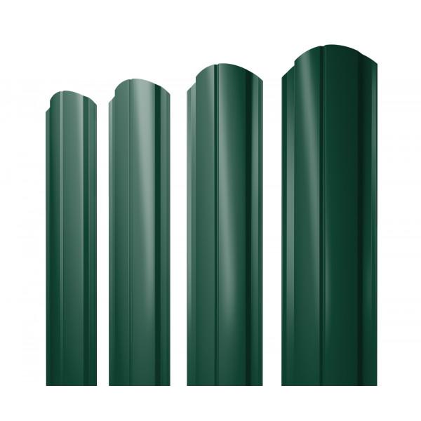 Штакетник Полукруглый Slim фигурный 0,45 PE RAL 6005 зеленый мох