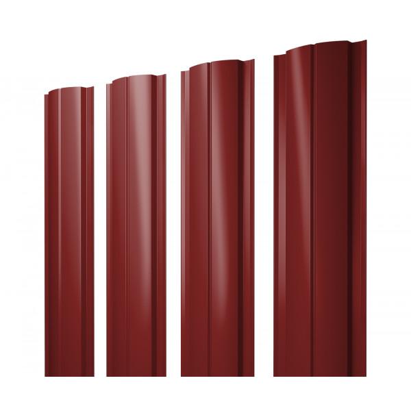 Штакетник Полукруглый Slim 0,45 PE RAL 3011 коричнево-красный