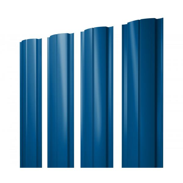 Штакетник Полукруглый Slim 0,45 PE RAL 5005 сигнальный синий