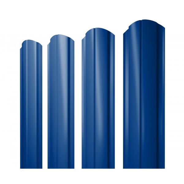 Штакетник Полукруглый Slim фигурный 0,45 PE RAL 5002 ультрамариново-синий