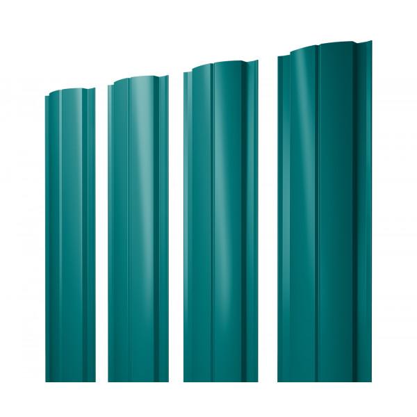 Штакетник Полукруглый Slim 0,45 PE RAL 5021 водная синь