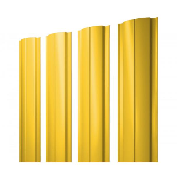 Штакетник Полукруглый Slim 0,45 PE RAL 1018 цинково-желтый