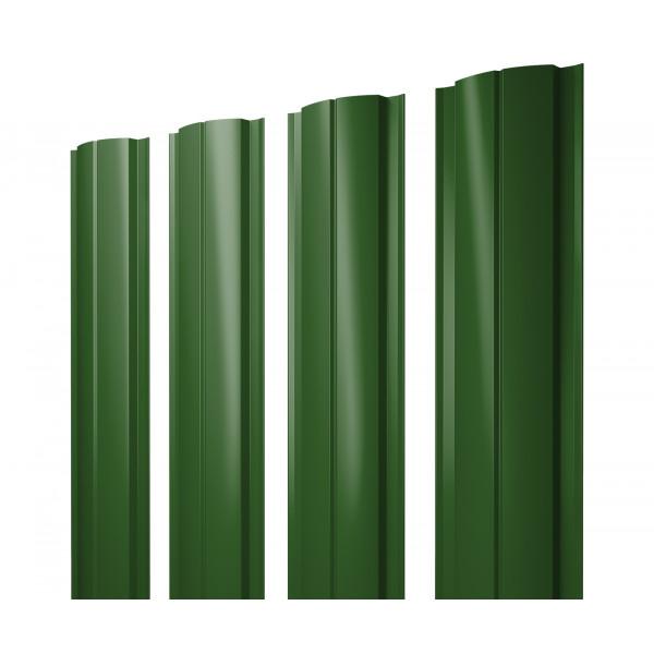 Штакетник Полукруглый Slim 0,45 PE RAL 6002 лиственно-зеленый