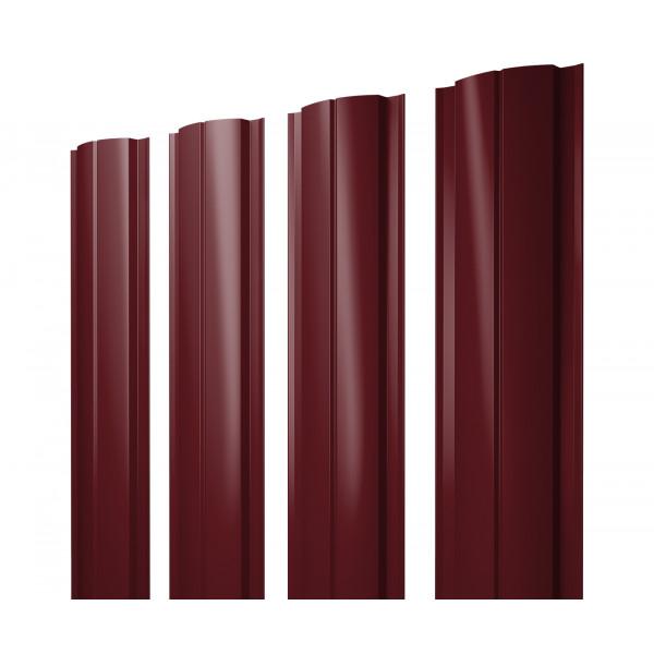 Штакетник Полукруглый Slim 0,45 PE RAL 3005 красное вино