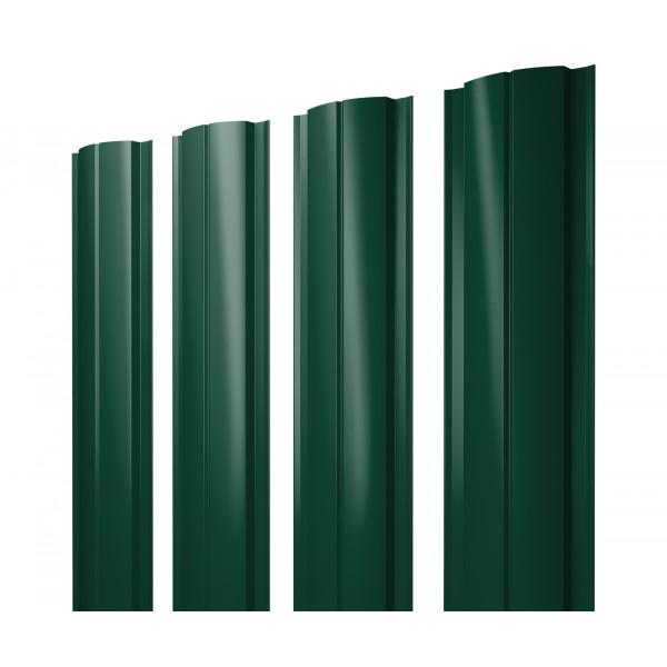 Штакетник Полукруглый Slim 0,45 PE RAL 6005 зеленый мох