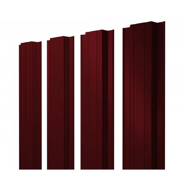 Штакетник Прямоугольный 0,45 PE RAL 3005 красное вино