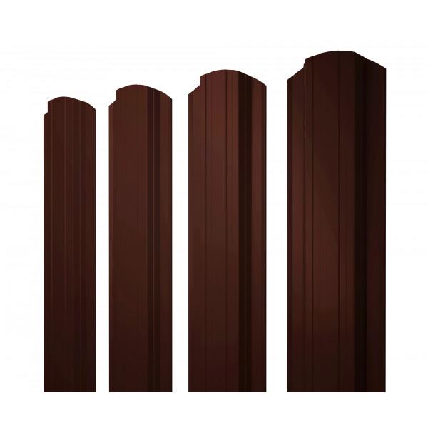 Штакетник Прямоугольный фигурный 0,45 PE RR 32 темно-коричневый