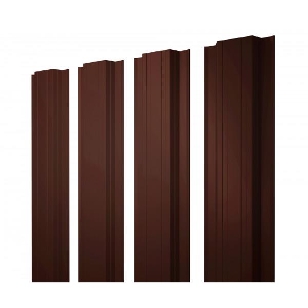 Штакетник Прямоугольный 0,45 PE RR 32 темно-коричневый