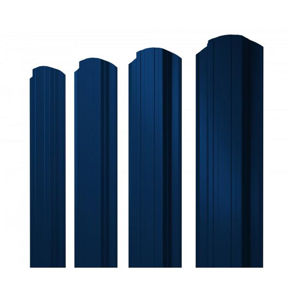 Штакетник Прямоугольный фигурный 0,45 PE RAL 5005 сигнальный синий
