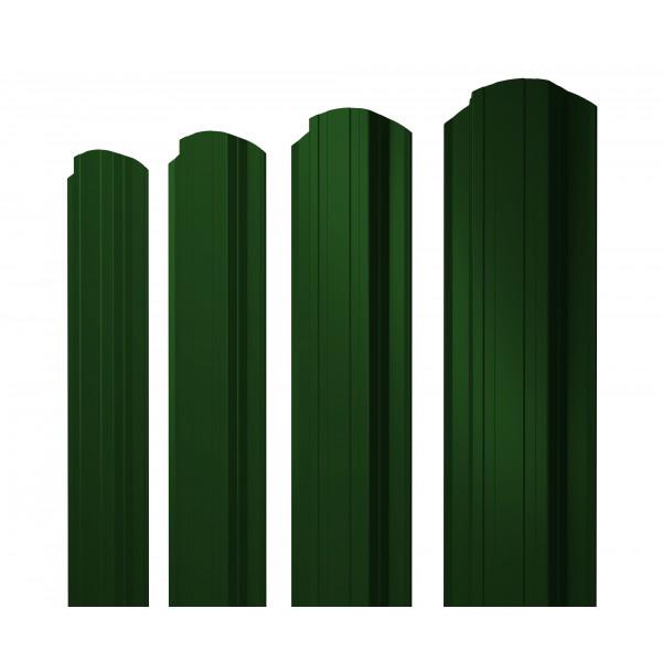 Штакетник Прямоугольный фигурный 0,45 PE RAL 6005 зеленый мох
