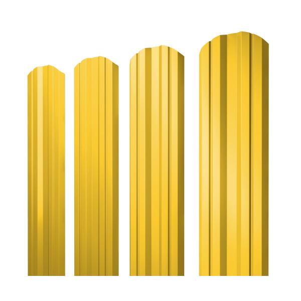 Штакетник Twin фигурный 0,45 PE RAL 1018 цинково-желтый