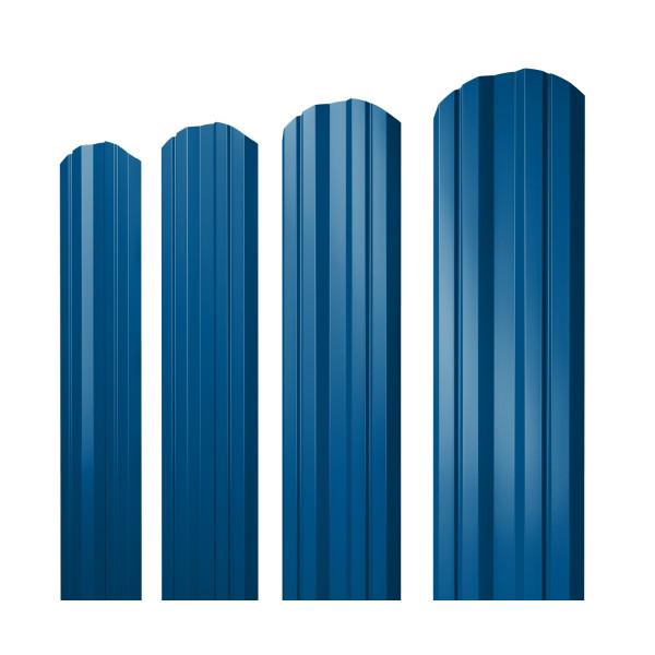 Штакетник Twin фигурный 0,45 PE RAL 5005 сигнальный синий