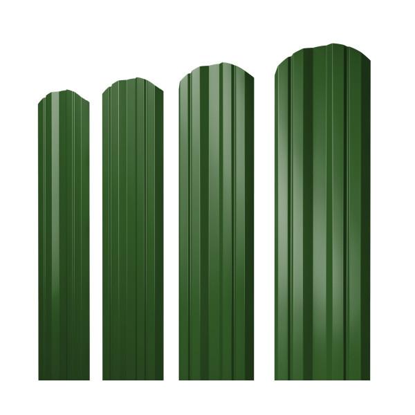 Штакетник Twin фигурный 0,45 PE RAL 6002 лиственно-зеленый