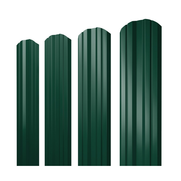 Штакетник Twin фигурный 0,45 PE RAL 6005 зеленый мох