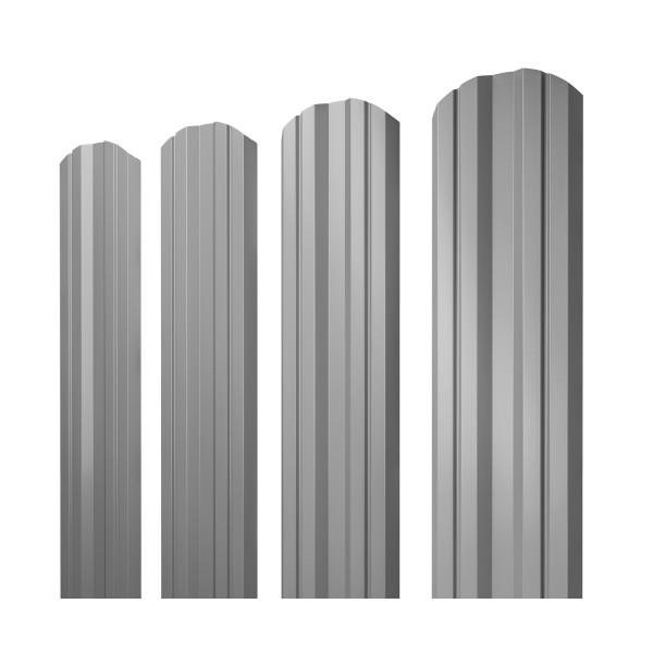 Штакетник Twin фигурный 0,45 PE RAL 7004 сигнальный серый
