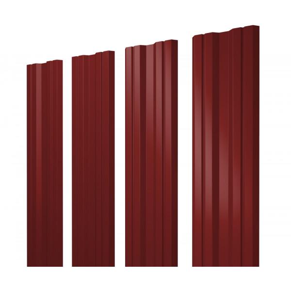 Штакетник Twin 0,45 PE RAL 3011 коричнево-красный