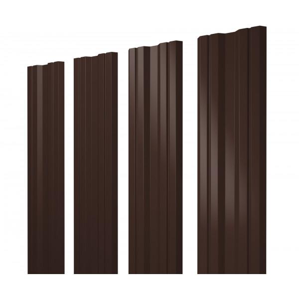 Штакетник Twin 0,45 PE RAL 8017 шоколад