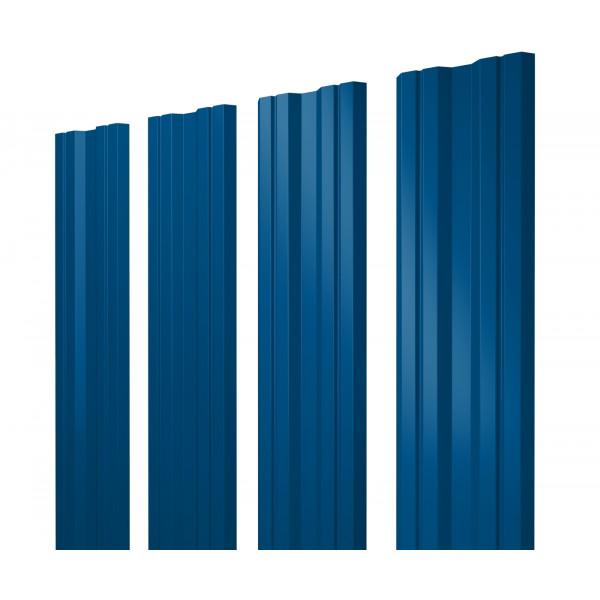 Штакетник Twin 0,45 PE RAL 5005 сигнальный синий