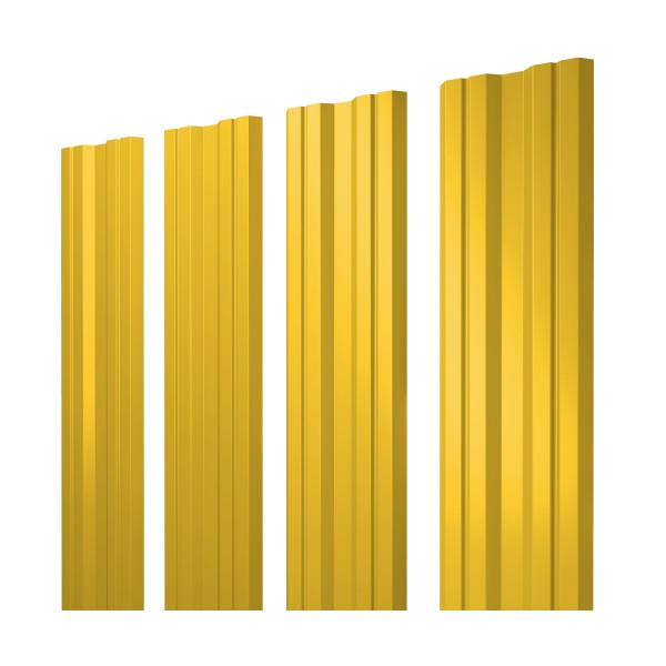 Штакетник Twin 0,45 PE RAL 1018 цинково-желтый