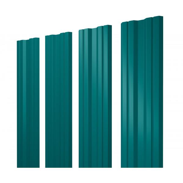 Штакетник Twin 0,45 PE RAL 5021 водная синь