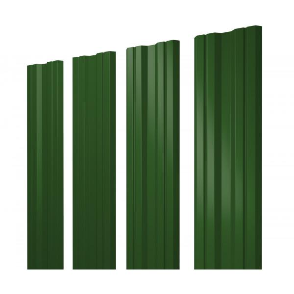 Штакетник Twin 0,45 PE RAL 6002 лиственно-зеленый