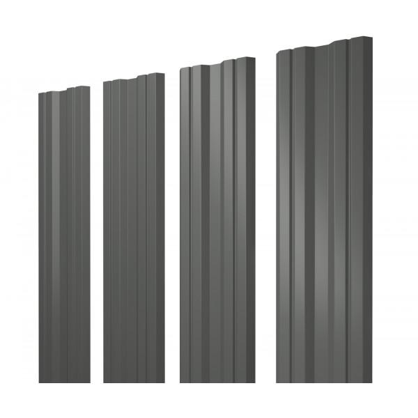 Штакетник Twin 0,45 PE RAL 7005 мышино-серый