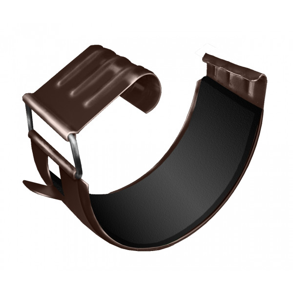 Соединитель желоба Optima 125мм RAL 8017 шоколад