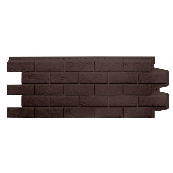 Фасадная панель Grand Line Состаренный кирпич Стандарт коричневая