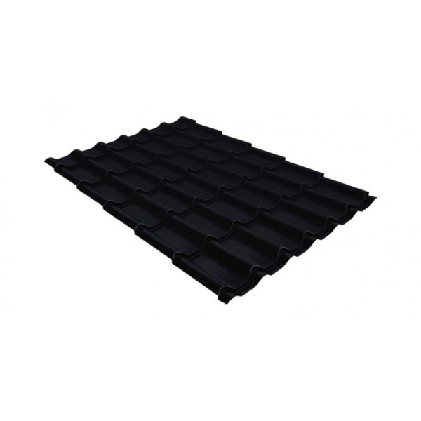 Металлочерепица классик 0,5 Satin RAL 9005 черный
