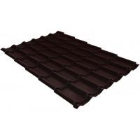 Металлочерепица классик Grand Line 0,5 Velur RAL 8017 шоколад