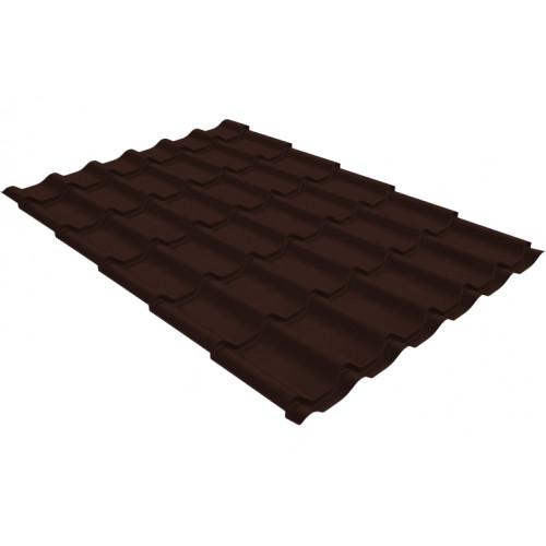 Металлочерепица классик 0,4 PE RAL 8017 шоколад