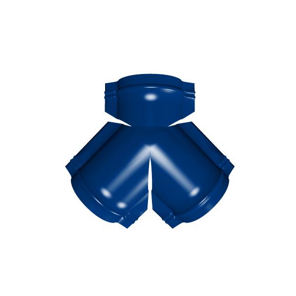 Тройник Y конька полукруглого PE с пленкой RAL 5002 ультрамариново-синий