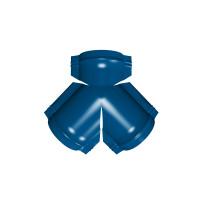 Тройник Y конька полукруглого PE с пленкой RAL 5005 сигнальный синий