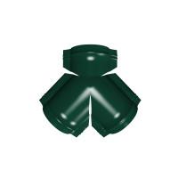 Тройник Y конька полукруглого PE с пленкой RAL 6005 зеленый мох