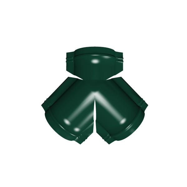 Тройник Y малого конька полукруглого PE с пленкой RAL 6005 зеленый мох