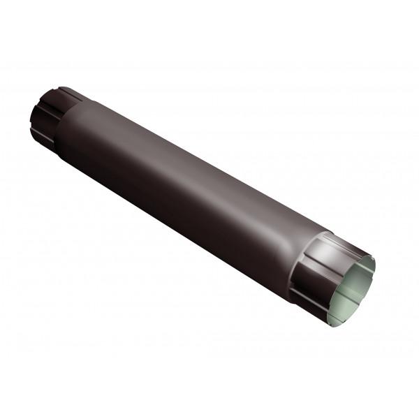 Труба круглая соединительная Optima 90мм 1м RAL 8017 шоколад
