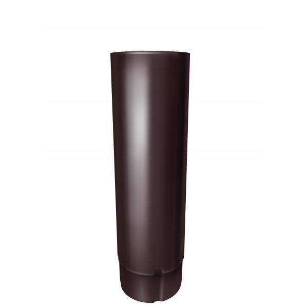 Труба круглая 100 мм 3 м RAL 8017 шоколад