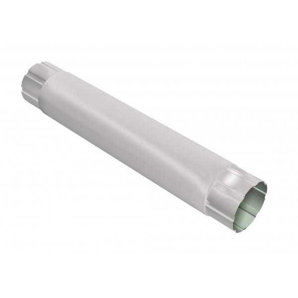Труба круглая соединительная Optima 90мм 1м RAL 9003 сигнальный белый