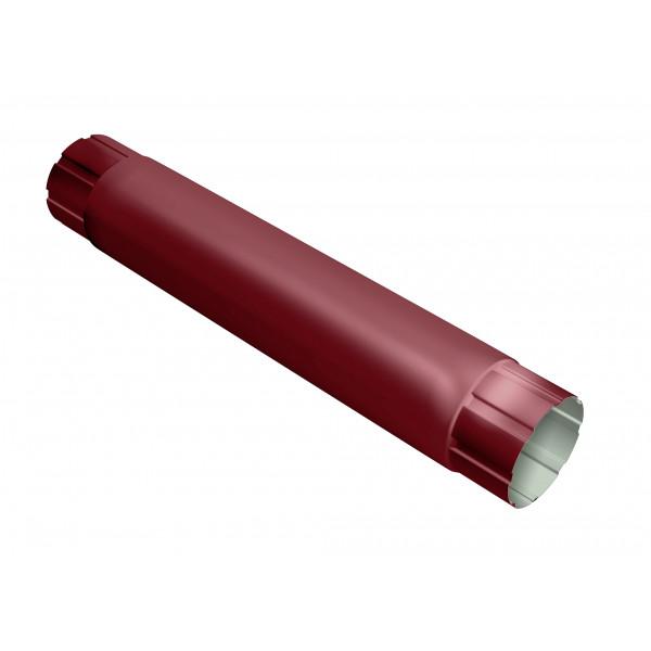 Труба круглая соединительная Optima 90мм 1м RAL 3005 красное вино