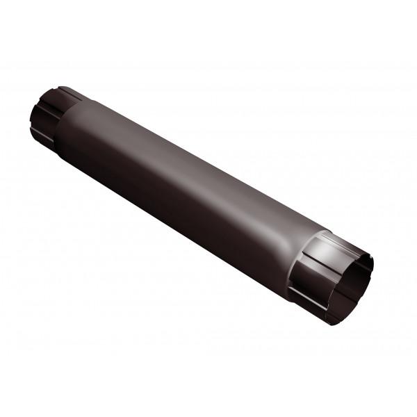 Труба круглая соединительная 100 мм 1 м RAL 8017 шоколад