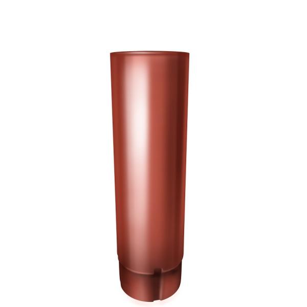 Труба круглая 90 мм 3 м RAL 8004 терракота