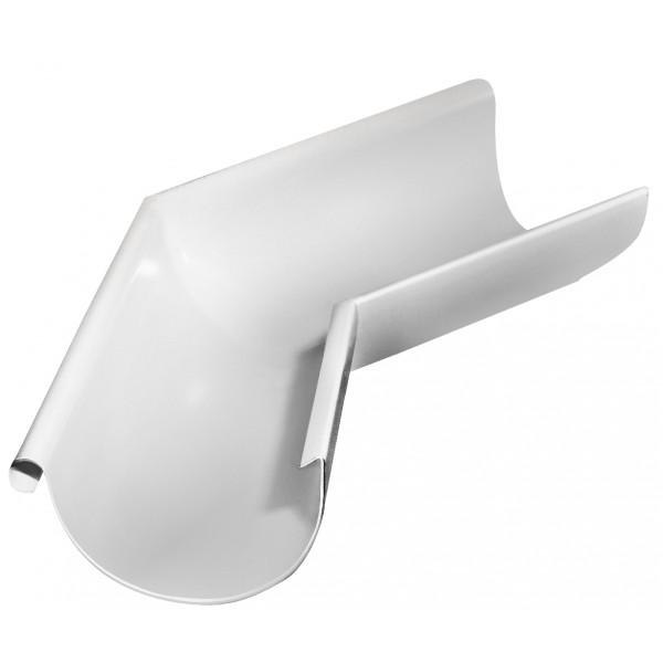 Угол желоба внешний 135 гр 150 мм RAL 9003 сигнальный белый