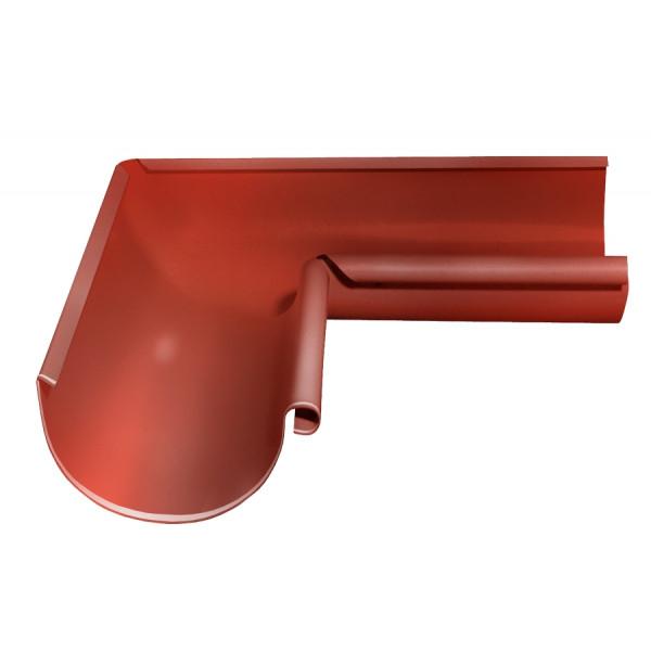 Угол желоба внутренний 90 гр 125 мм RAL 8004 терракота