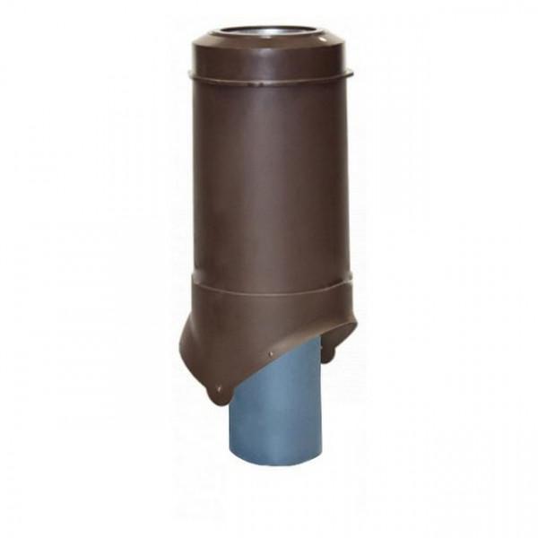 Выход канализации Krovent Pipe-VT 125/100 ИЗ коричневый