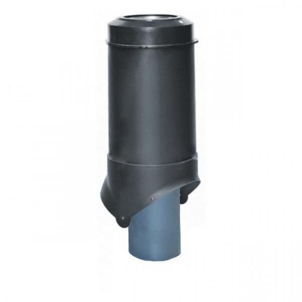Выход канализации Krovent Pipe-VT 125/100 ИЗ черный